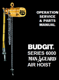 budgit air chain hoist series 6000 manual
